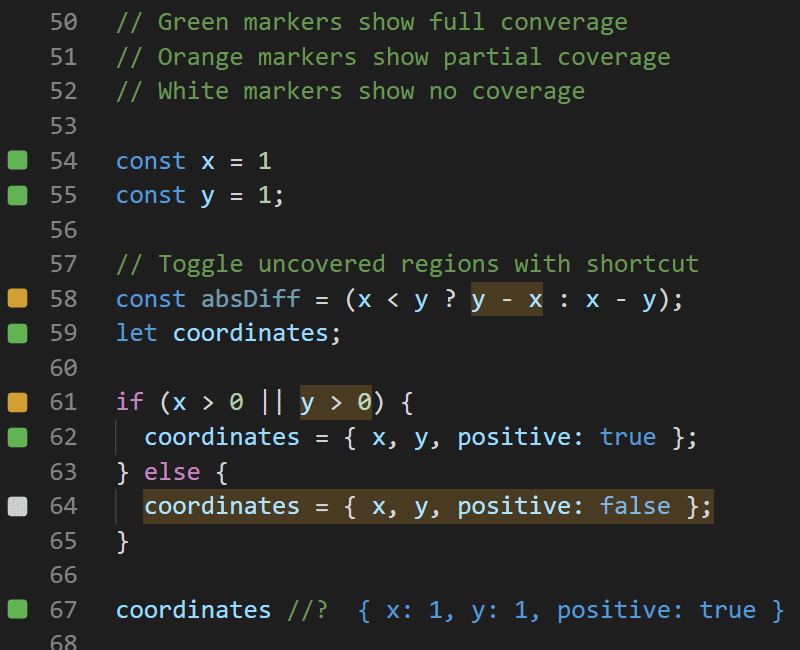 Inline Code Coverage