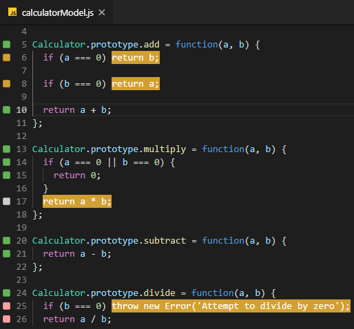 Highlighted Markers Will Automatically Disear When You Start Editing Your Code